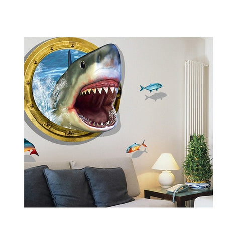 Children 3d Cartoon Fish Wallpaper Sticker(90cm by 61cm)
