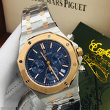 Audemars Piguet Royal Oak Automatic Two-Tone Chronograph Blue Dial Watch