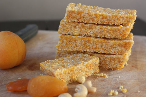 Raw vegan apricot bars