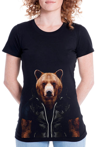 Women's Bear Fitted Tee