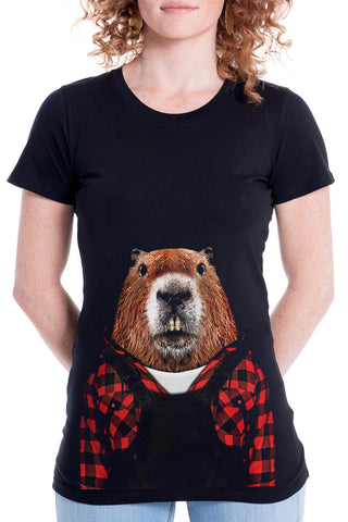 Women's Beaver Fitted Tee