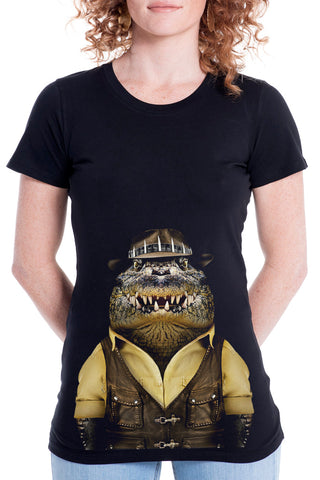 Women's Crocodile Fitted Tee