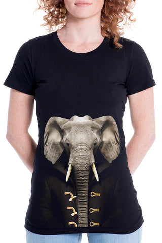 Women's Elephant Fitted Tee