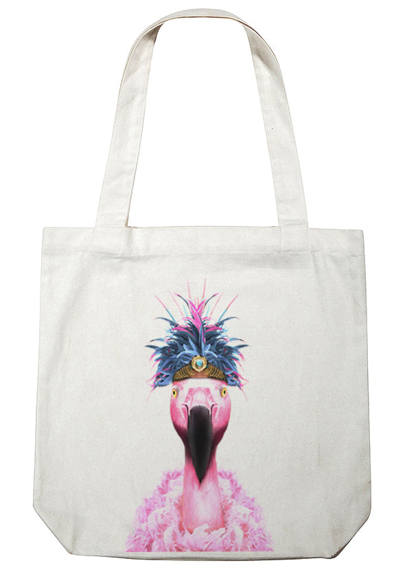 Enjoy Online For Nice Flamingo canvas tote Animalyser Buy Cheap 2018 Newest TW43y