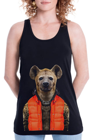 Women's Hyena Singlet, Black