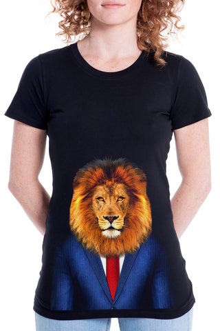 Women's Lion Fitted Tee