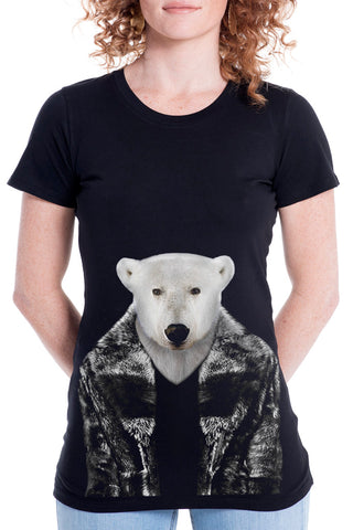 Women's Polar Bear Fitted Tee