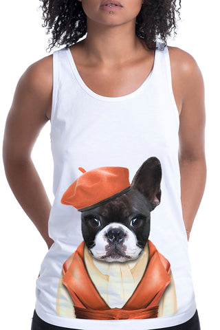 Women's Miss Frenchie Singlet