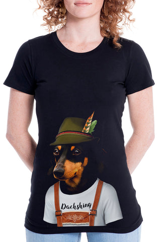 Women's Dachshund Fitted Tee