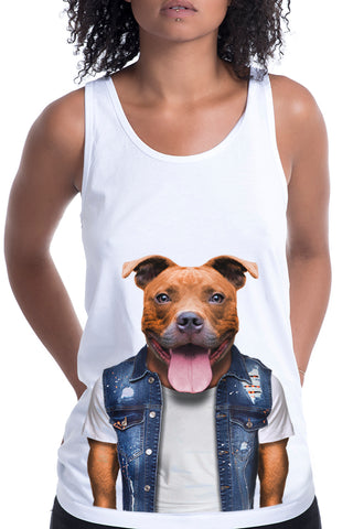 Women's Staffy Singlet