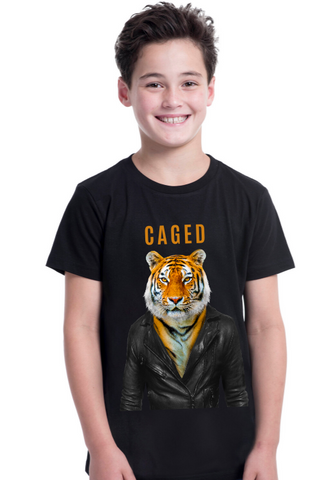 Caged Tiger Kids T-Shirt