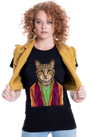 Women's Cat Fitted Tee