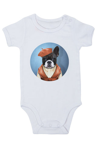 Miss Frenchie Baby Grow