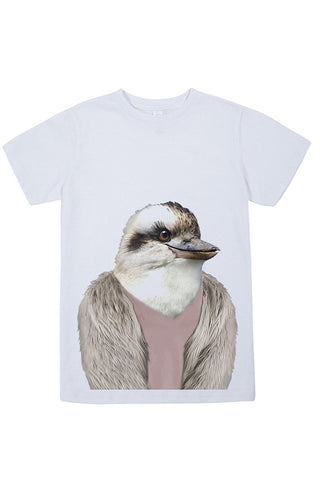 Kids Kookaburra T-Shirt - Kid's Tee, White