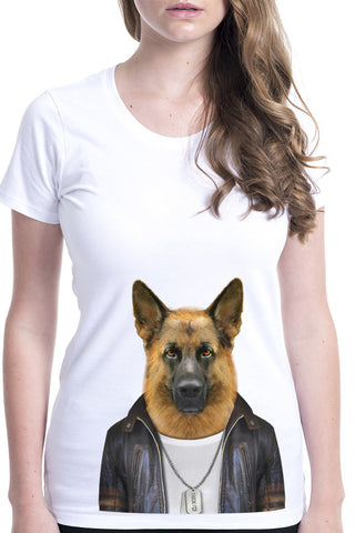 Women's German Shepherd Fitted Tee