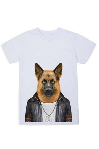 Kids German Shepherd T-Shirt - Kid's Tee, White