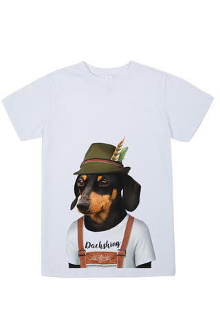 Kids Dachshund T-Shirt - Kid's Tee, White