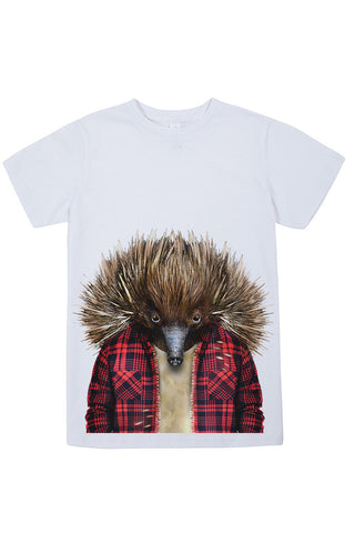 Kids Echidna T-Shirt - Kid's Tee, White