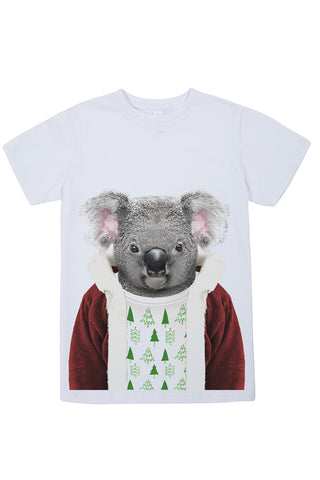 Kids Christmas Koala T-Shirt - Kid's Tee, White