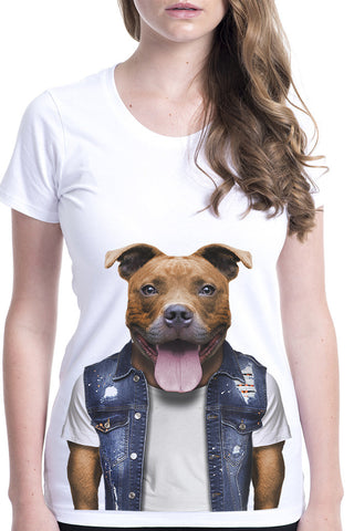 Women's Staffy Fitted Tee