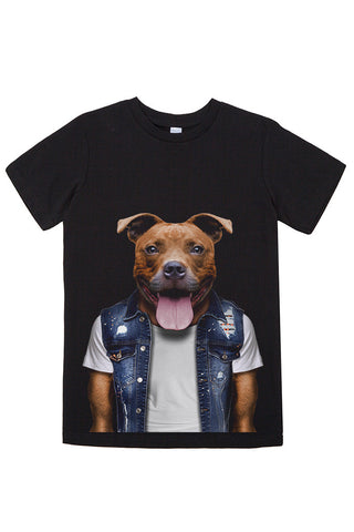 Kids Staffy T-Shirt - Kid's Tee, Black