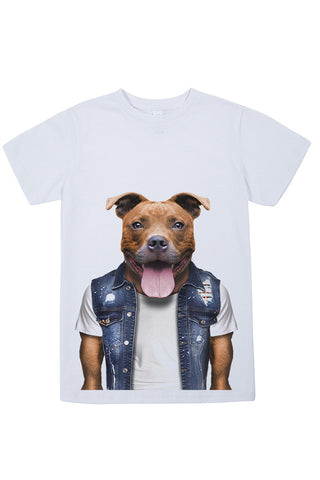 Kids Staffy T-Shirt - Kid's Tee, White