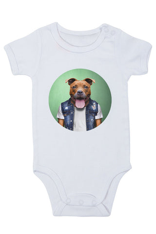 Staffy Baby Grow