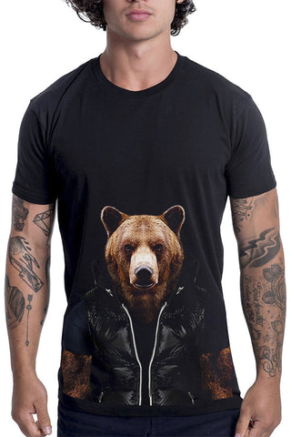 Men's Bear T-Shirt - Classic Tee, Black