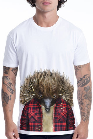 Men's Echidna T-Shirt - Classic Tee, White