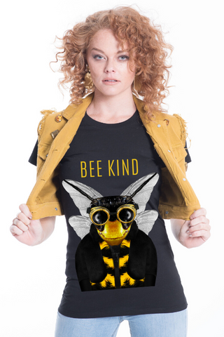 BEE KIND Women's Fitted Tee