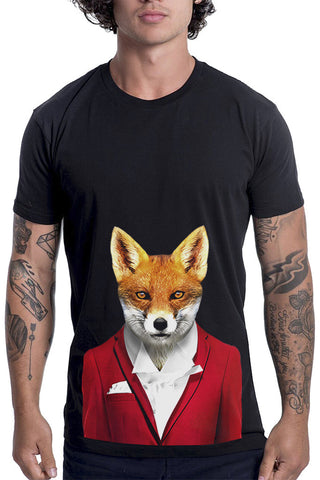 Men's Fox T-Shirt - Classic Tee, Black