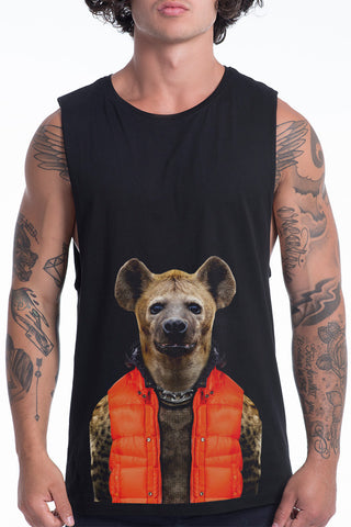 Men's Hyena Muscle Tank, Black
