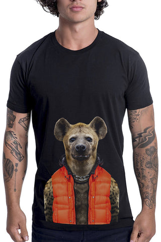 Men's Hyena T-Shirt - Classic Tee, Black