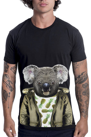 Men's Koala T-Shirt - Classic Tee, Black