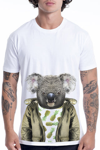 Men's Koala T-Shirt - Classic Tee, White