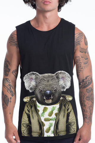 Men's Koala Muscle Tank, Black