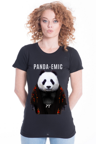 PANDA-EMIC Women's Fitted Tee