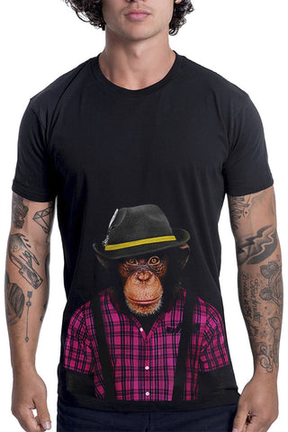 Men's Monkey Male T-Shirt - Classic Tee, Black