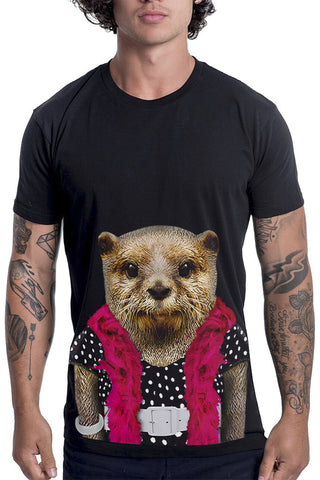 Men's Otter T-Shirt - Classic Tee, Black