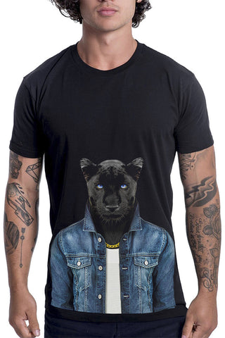 Men's Panther Male T-Shirt - Classic Tee, Black