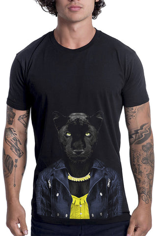 Men's Panther Female T-Shirt - Classic Tee, Black