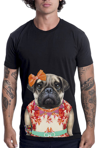 Men's Miss Pug T-Shirt - Classic Tee, Black