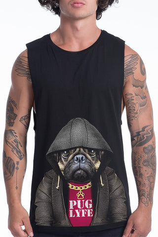 Men's Puglyfe Muscle Tank, Black