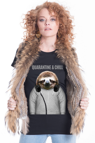Quarantine & Chill Women's Fitted Tee