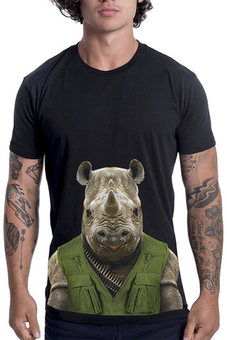 Men's Rhino T-Shirt - Classic Tee, Black