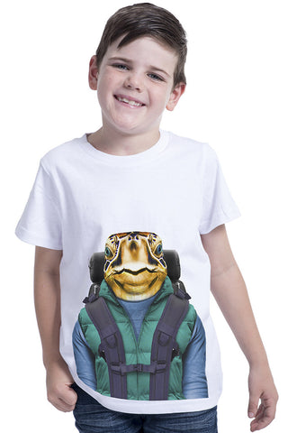 kids turtle t shirt white