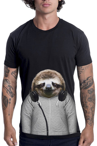 Men's Sloth T-Shirt - Classic Tee, Black