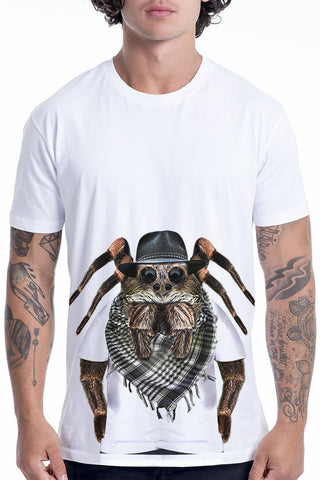 Men's Spider T-Shirt - Classic Tee, White