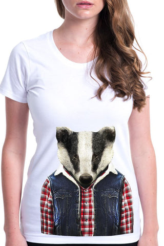 women's badger t-shirt white