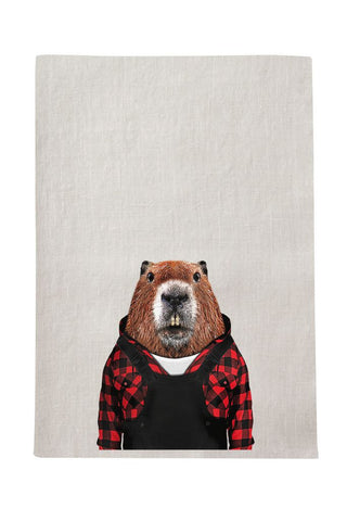 Beaver Tea Towel